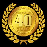 40yrs Badge